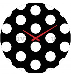 Glass wall clock - Dots
