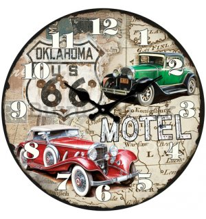 Glass wall clock - Route 66 (4)