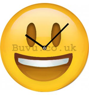 Glass wall clock - Smiley