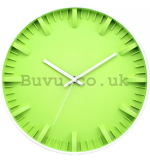Wall clock: Green - 30 cm