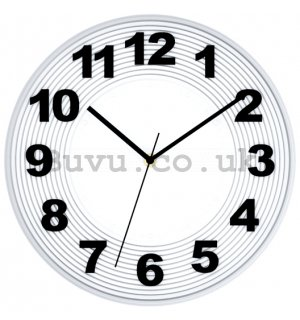 Wall clock: White creases - 30 cm
