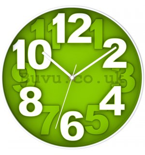 Wall clock: Green (1) - 30 cm