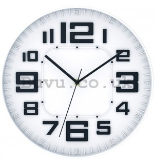 Wall clock: Modern (white) - 30 cm