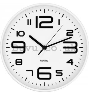 Wall clock: Black and white - 25cm