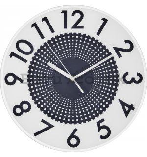 Wall clock: Dotted Infinity (Gray) - 35 cm