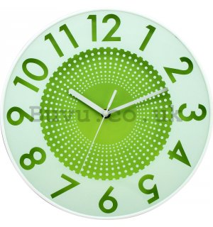 Wall clock: Dotted Infinity (green) - 30 cm