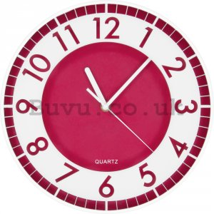 Wall clock: Modern (red) - 30 cm
