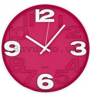 Wall clock: Red (matt) - 30 cm
