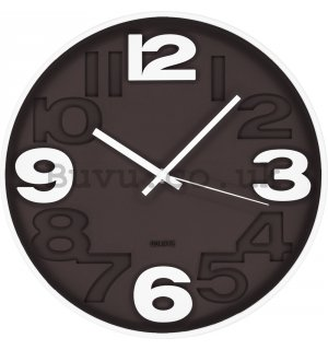 Wall clock: Gray brown - 30 cm