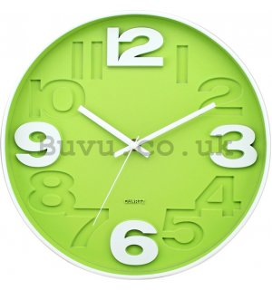Wall clock: Green (2) - 30 cm