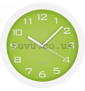 Wall clock: Classic (green) - 28 cm