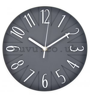 Wall clock: Design (gray) - 25 cm