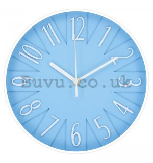 Wall clock: Design (blue) - 25 cm