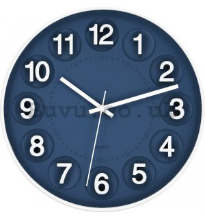 Wall clock: Numerical circles (blue) - 25 cm