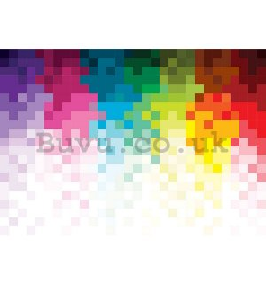 Wall Mural: Colourful pixels (1) - 184x254 cm