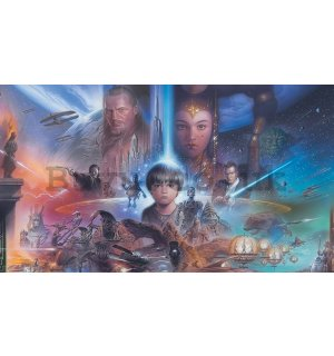 Wall Mural: Star Wars The Phantom Menace (1) - 254x368 cm