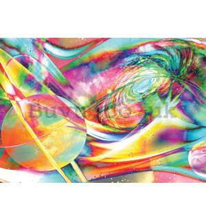 Wall Mural: Ultraviolet galaxy - 254x368 cm