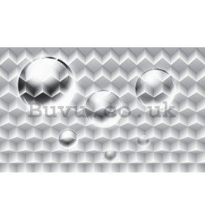 Wall Mural: White abstract (1) - 254x368 cm