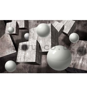 Wall Mural: Spheres and cubes - 254x368 cm