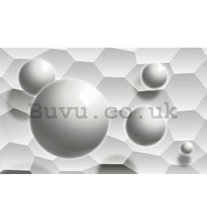 Wall Mural: White abstract (2) - 184x254 cm