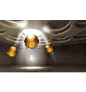 Wall Mural: Yellow spheres (1) - 184x254 cm