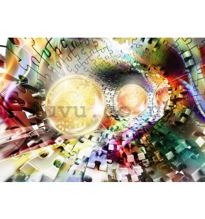 Wall Mural: Puzzle 3D tunnel (2) - 184x254 cm