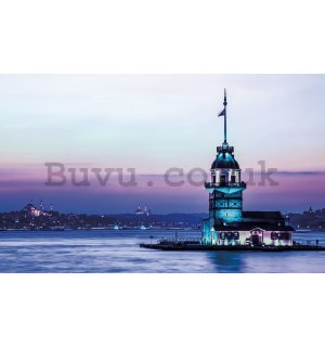 Wall Mural: Blue Lighthouse - 184x254 cm