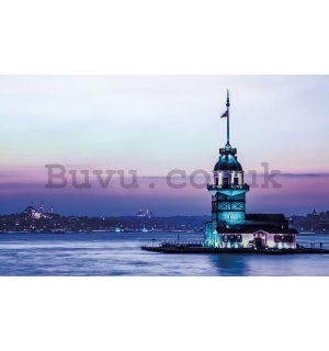 Wall Mural: Blue Lighthouse - 254x368 cm