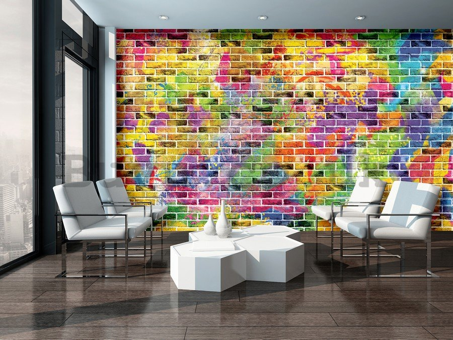 Wall Mural: Colourful wall (1) - 184x254 cm