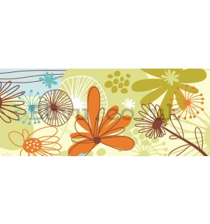Wall Mural: Colour flowers - 104x250 cm