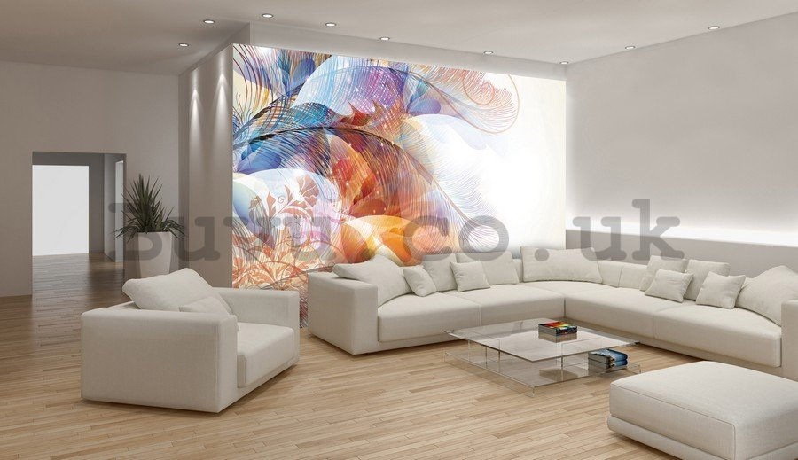 Wall Mural: Colourful flowers (5) - 254x368 cm
