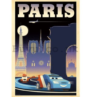 Wall Mural: Cars 2 Paris (advertisement) - 184x254 cm