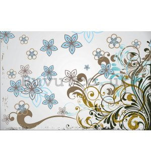 Wall Mural: Painted flowers (1) - 184x254 cm