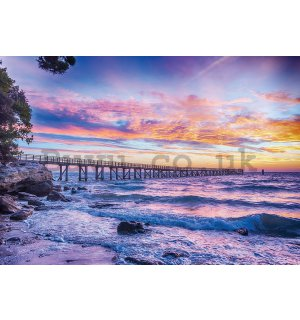 Wall Mural: Sea sunset - 254x368 cm