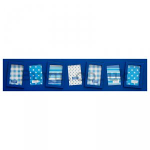 Photo frame - 7 windows, 5x7,5cm (Blue)