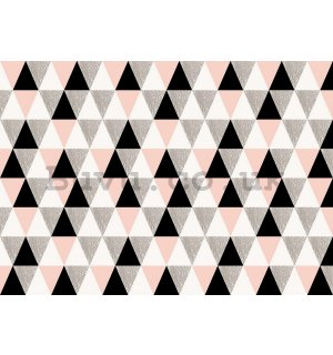 Wall Mural: Black and white triangles - 184x254 cm
