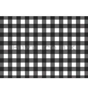 Wall Mural: Black and white squares - 254x368 cm