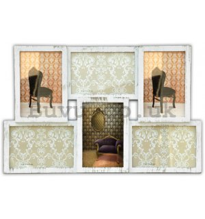 Photo frame - 6 windows, 10x15cm (creamy)