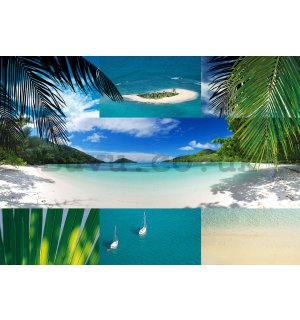 Wall Mural: Beach (collage) - 184x254 cm