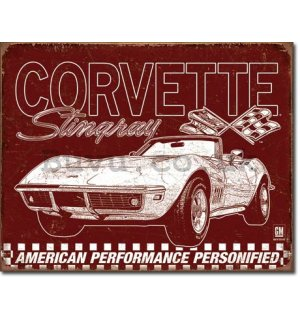 Metal sign - Corvette 69 Stingray