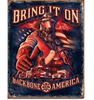 Metal sign - Bring It On (Backbone America)