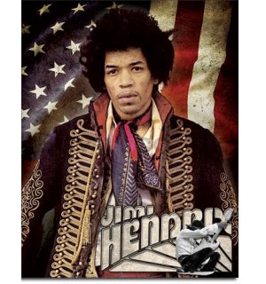 Metal sign - Jimi Hendrix (Flag)