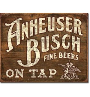 Metal sign - Anheuser-Busch (Fine Beer)