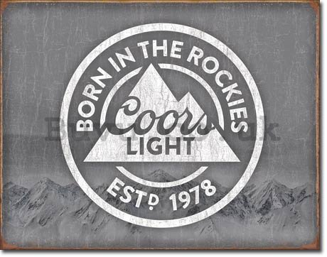 Metal sign - Coors Light (Born in the Rockies)