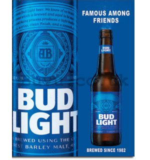 Metal sign - Bud Light (1)