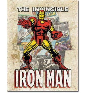 Metal sign - The Invincible Iron Man (1)