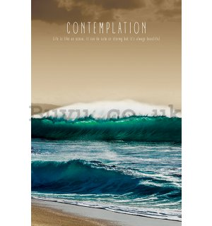 Poster - Contemplation (Life is Like an Ocean)