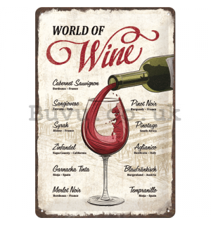 Metal sign: World of Wine - 30x20 cm
