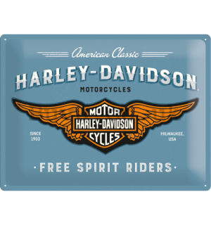 Metal sign: Harley-Davidson (Free Spirit Riders) - 30x40 cm