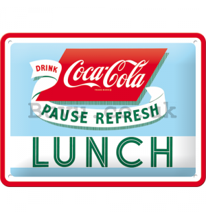 Metal sign: Coca-Cola (Lunch) - 15x20 cm